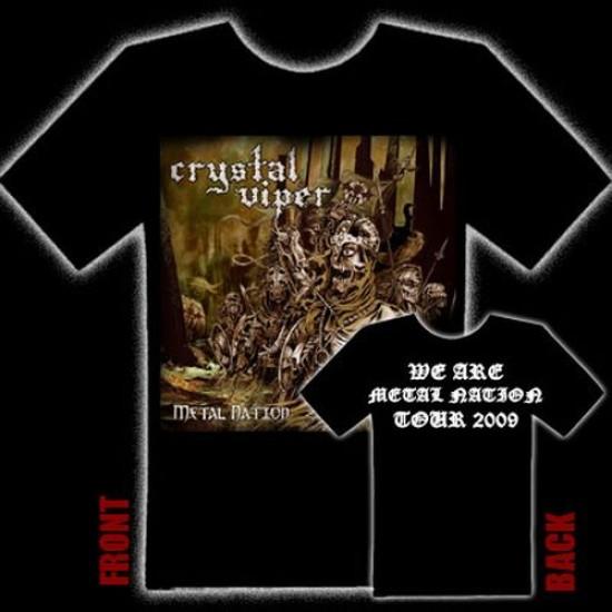 CRYSTAL VIPER - Metal Nation T-Shirt