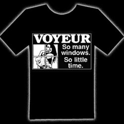 VOYEUR (SO MANY WINDOWS) T-SHIRT - Voyeur (so Many Windows) T-Shirt