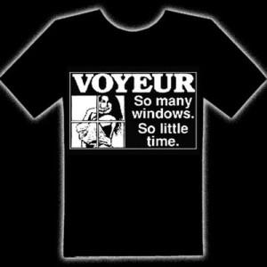 VOYEUR (SO MANY WINDOWS) T-SHIRT - Voyeur (so Many Windows)