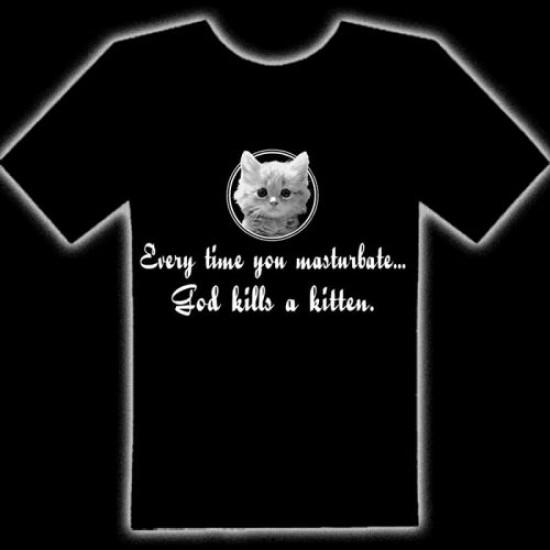 GOD KILLS A KITTEN T-SHIRT - God Kills A Kitten T-Shirt