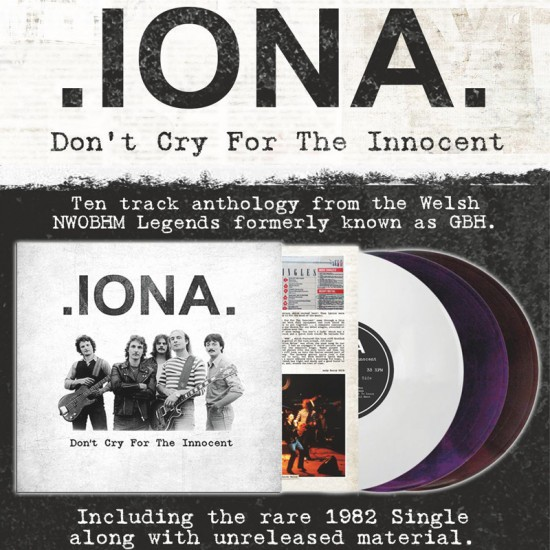 IONA - Don't Cry For The Innocent Vinyl LP