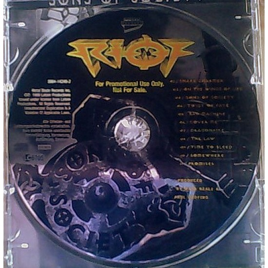 RIOT - Sons Of Society CD
