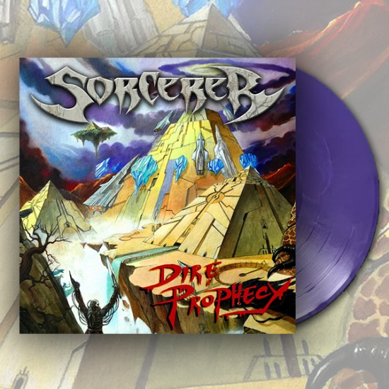 SORCERER - Dire Prophecy Purple Marbled Vinyl  LP